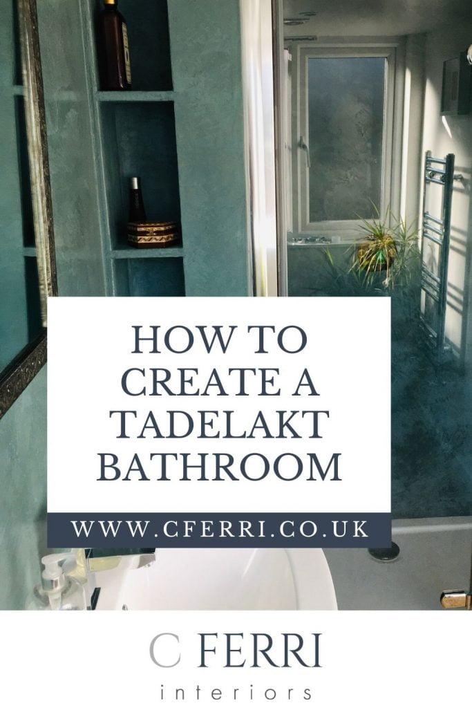 tadelakt bathroom by Ferri Decorations